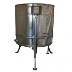 Медогонка радиальная нержавеющая (AISI 304) ременная с подставкой, крышкой и электроприводом (М93297)