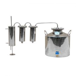 Дистиллятор Cropper ПРЕМИУМ газовый на 20 литров с двумя сухопарниками