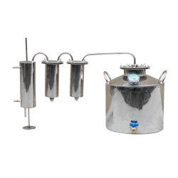 Дистиллятор Cropper ПРЕМИУМ газовый на 25 литров с двумя разборными сухопарниками