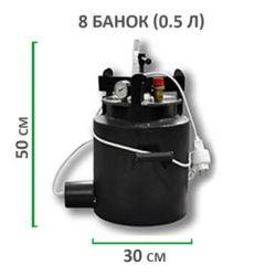 Электрический автоклав из черной стали для консервирования Укрпромтех«Че-8 »