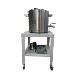 Домашняя автоматическая сыроварня Перваченко 10 л с сенсорным блоком управления. (на тележке)