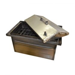 Коптильня Hot Smoking: 510х320х320, крышка домик, сталь 1.2 мм