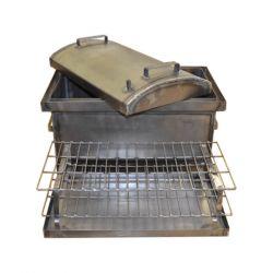 Коптильня Hot Smoking: 510х320х330, крышка круглая, сталь 1.5 мм