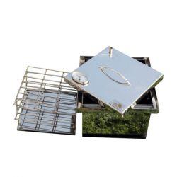 Коптильня Smoke-House: 300х300х200, с термометром, нержавейка 1.5 мм