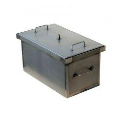 Коптильня Smoke-House: 520x300x280, кришка пласка, сталь 1.5 мм