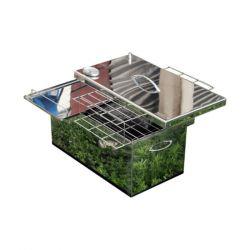 Коптильня Smoke-House: 520х300х280, с термометром, нержавейка 1.5 мм