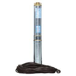 Насос центробежный скважинный 0.75кВт H 58(38)м Q 140(100)л/мин Ø102мм (кабель 30м) AQUATICA (DONGYI