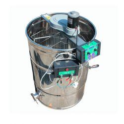 Медогонка 3 - х рамкова неповоротна нержавіюча з електроприводом і ротором з чорної сталі (М93239В)