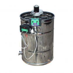 Медогонка 2 - х рамочная неповоротная нержавеющая с электроприводом и кассетами из черной стали (М93238В)