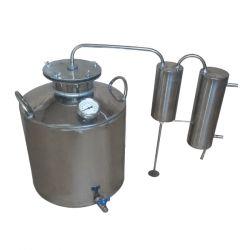 Дистиллятор Cropper газовый на 60 литров с сухопарником, угольной колонной и попугаем