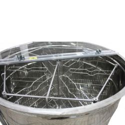 Медогонка 6 - ти рамкова синхронно поворотна нержавіюча (М93261)