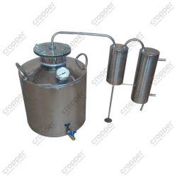 Дистилятор Cropper газовий на 25 літрів з сухопарником, вугільної колоною і папугою