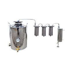 Дистилятор Cropper ПРЕМІУМ електричний-газовий на 25 літрів з трьома сухопарниками