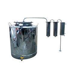 Дистиллятор Cropper ПРЕМИУМ газовый на 120 литров с двумя сухопарниками
