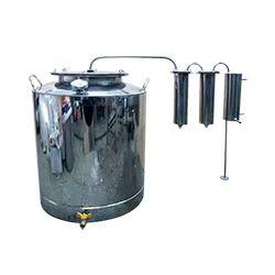 Дистиллятор Cropper ПРЕМИУМ газовый на 150 литров с двумя сухопарниками