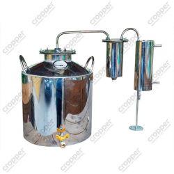 Дистилятор Cropper ПРЕМІУМ газовий на 20 літрів з розбірним сухопарником