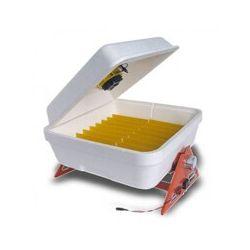 Инкубатор автоматический Веселое семейство 12В (тэновый, цифровой, с влагомером и  вентилятором)