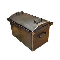 Коптильня Hot Smoking: 510х320х330, крышка круглая, сталь 2 мм