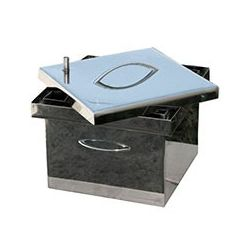 Коптильня Smoke-House: 300х300х200, крышка плоская, нержавейка 1.5 мм