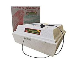 Інкубатор побутовий автоматичний Насідка ІБ-120 / 72-12В ТЕНовий (рамковий автоповорот + вологомір)