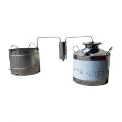 Непроточный дистиллятор Cropper на 60 литров с сухопарником и емкостью под воду