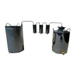 Непроточный дистиллятор тройной очистки Cropper на 20 литров с сухопарником и емкостью под воду