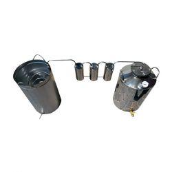 Непроточный дистиллятор тройной очистки Cropper на 25 литров с сухопарником и емкостью под воду