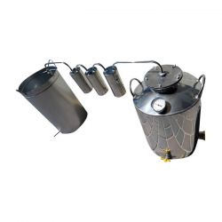 Непроточный дистиллятор тройной очистки Cropper на 50 литров с сухопарником и емкостью под воду