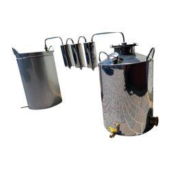 Непроточный дистиллятор тройной очистки Cropper на 30 литров с сухопарником и емкостью под воду