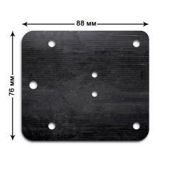 Мембрана 76х88х3 (каучук) 1 шт